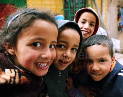 Niños en Azrou